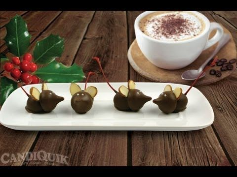 How to make Chocolate Party Mice! - Shown by Miss CANDIQUIK on Twin Citi...