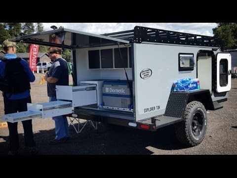 The most rugged offroad camper trailer I have ever seen - by Overland Explorer : Overland Expo 2017 - YouTube