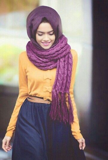 great way to wear orange #hijab #hijabi
