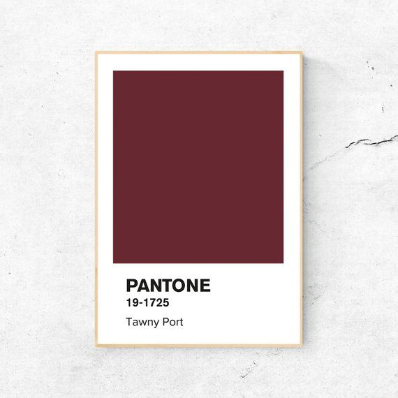 Pantone Print Pantone Poster Pantone Tawny Port Pantone Fall 2017 Pantone Maroon Pantone Wall Art Pantone Printable By Sorbetedelimonshop