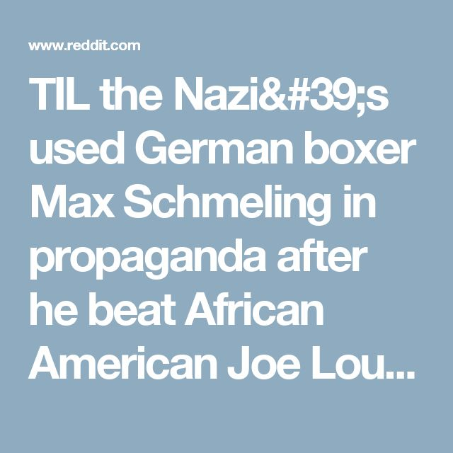 TIL the Nazi's used German boxer Max Schmeling in propaganda after he beat African American Joe Louis. Schmeling disliked the Nazis, he refused Hitler's gifts and hid Jewish children during Kristallnacht. He would later becomes friends with Louis and was a pallbearer at his funeral. : todayilearned