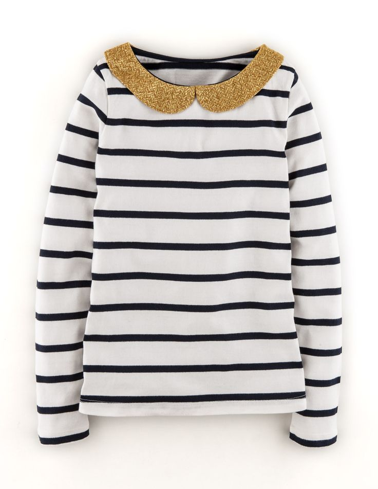 Sparkle and shine in our Sparkle Collar Breton! Shop now with 15% off and free delivery with code PIN1 (UK) or PIN2 (US) #Boden #AW14