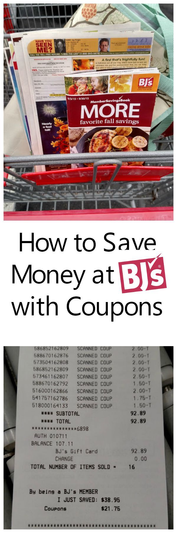 How to save money with coupons at bj s