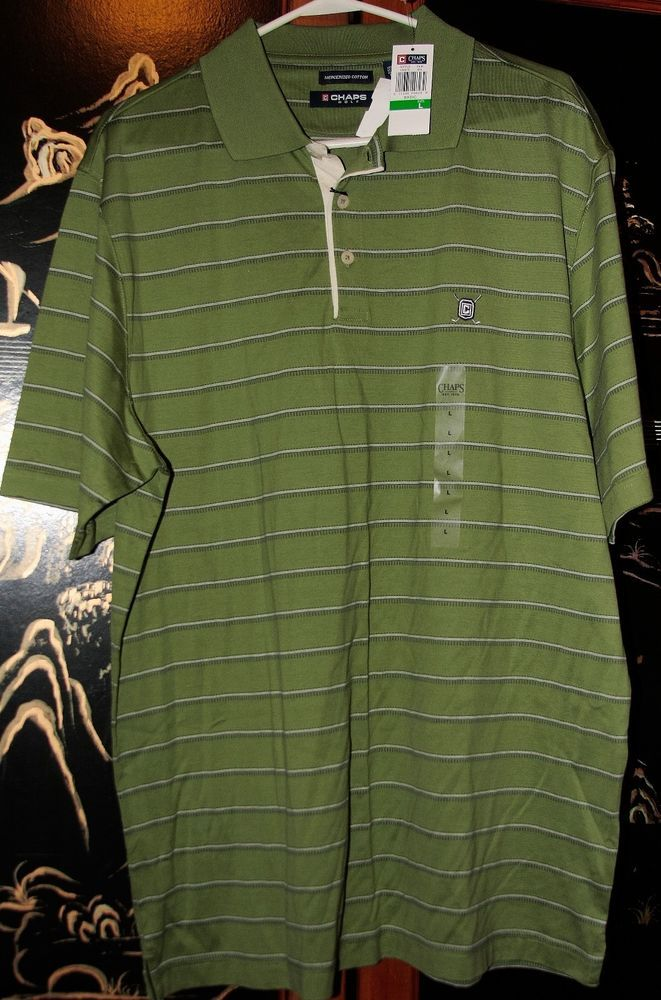 New Men's Polo style Golf Shirts by Chaps Golf -Size Large #ChapsPro #PoloRugby