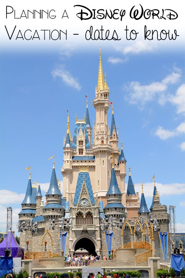 Planning a Disney World Vacation - your key dates to know in the lead up to your visit