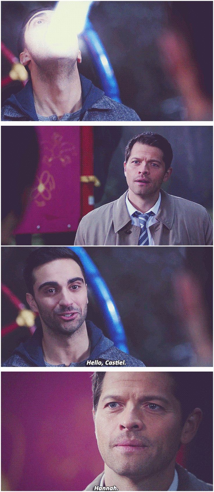 [gifset] 10x17 Inside Man #SPN #Castiel The joy on his face when he sees her was adorable.
