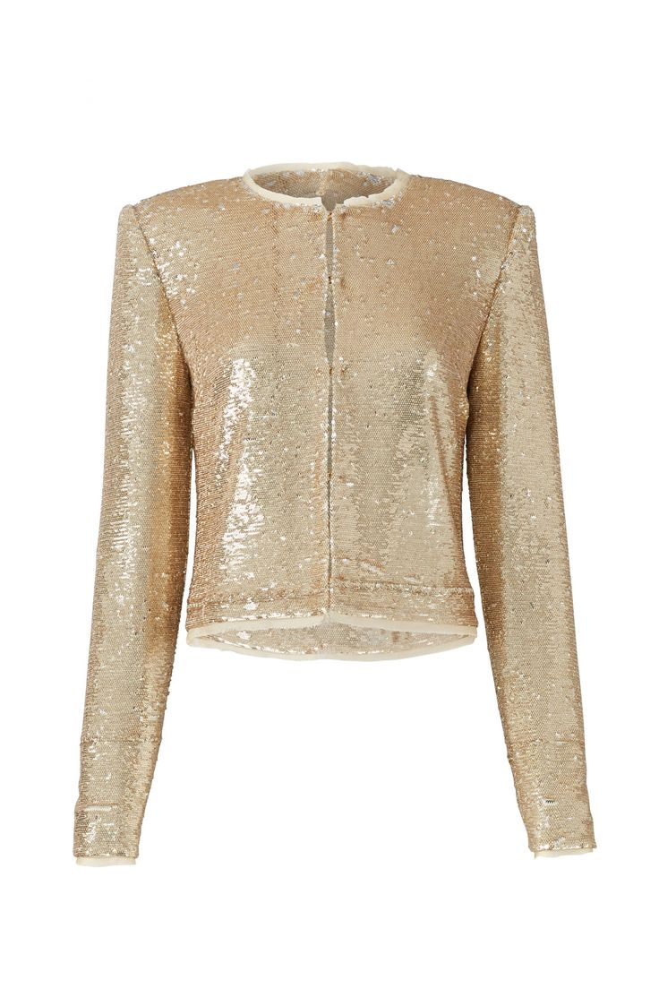 Rachel Zoe Sequined Gold Jacket