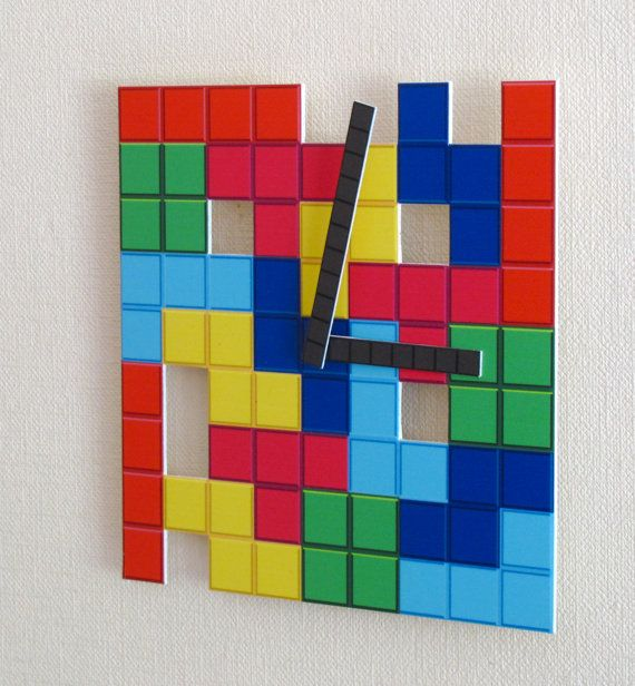 Tetris Wall Clock Game