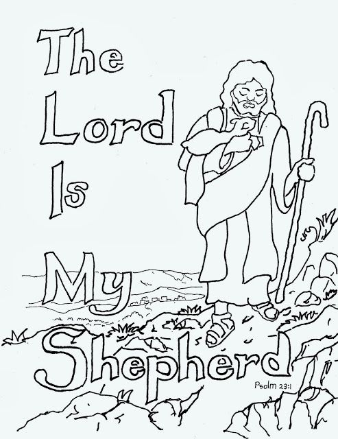 coloring pages for kids by mr adron the lord is my shepherd free kids - Childrens Pictures To Colour In