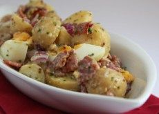 Bacon Egg Potato Salad. A delicious accompaniment to a weekend BBQ or easy week day meal. Book 6.