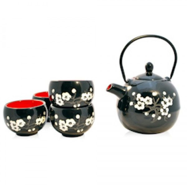 White Flowers - Tea Set - Mad Hatter Tea Shop