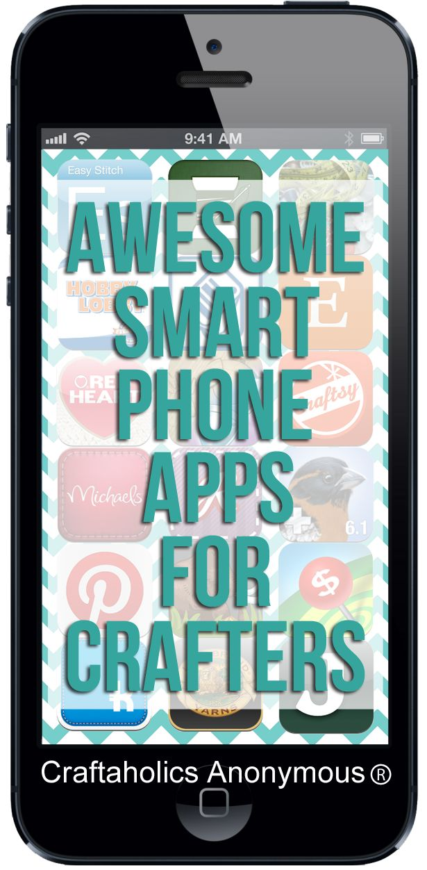 Smart phone apps for crafters. Great resource for apps!
