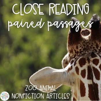 Reading and learning about zoo animals while your students practice their comparing and contrasting skills. These 10 nonfiction articles will definitely engage students and save you time looking for paired passages. There are 5 multiple choice questions for