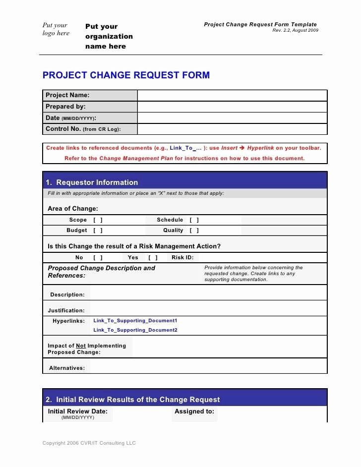 Change Request Form Template Excel Inspirational Request Form