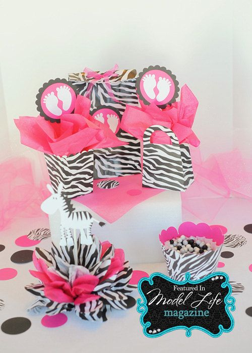RESERVED for Tishea baby shower package zebra print by missdaisyw, $146.00