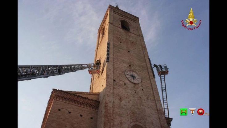 Sisma centro Italia Soccorsi dei Vigili del Fuoco Appignano del T. 1 Ott...