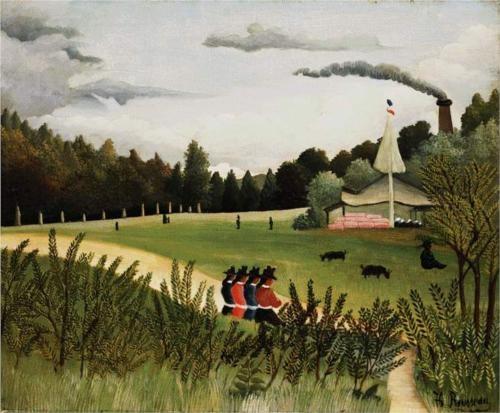 Henri Rousseau (1844 - 1910) | Naïve Art (Primitivism) | Park with Figures