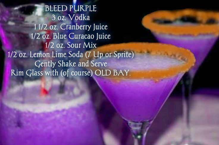 Bleed Purple Drink with OLD BAY.