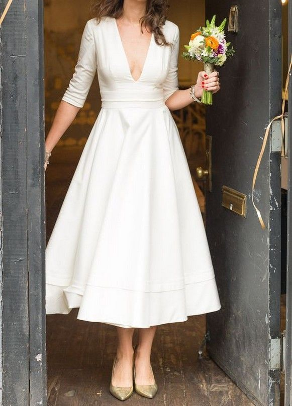 60 Timeless Vintage Midi Wedding Dresses Ideas In 2020 Midi Wedding Dress Sell My Wedding Dress Civil Wedding Dresses