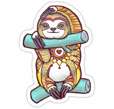 Mandala sloth sticker by theysaurus