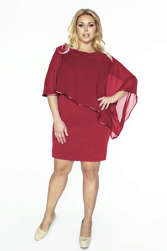 Vínové pouzdrové šaty Kartes Renata  ab9fa8a6ed