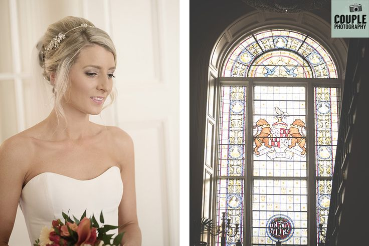 The bride is ready to head to the church. Weddings at Durrow Castle photographed by Couple Photography.