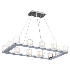 Buy The PLC Lighting 3488 PC Polished Chrome Direct Shop For 12 Light Oval Chandelier From Glacier Collection