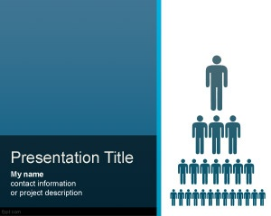 Free org chart PowerPoint presentation template with hierarchy pyramid