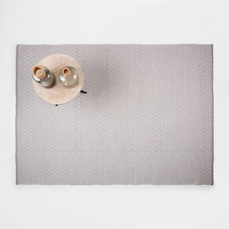 Teppich mit Rautenmuster in Grau - TEPPICHE - DEKORATION | Zara Home Deutschland