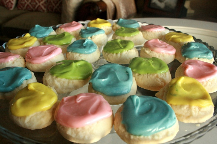 Beverly's Meltaway Cookies. Super easy. 4 ingredients for the cookies and 3 for the frosting. Great for parties/showers.