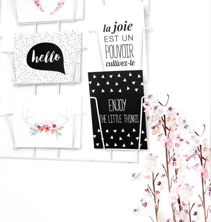 porte-cartes déco avec carte hello, enjoy the little things... style scandinave