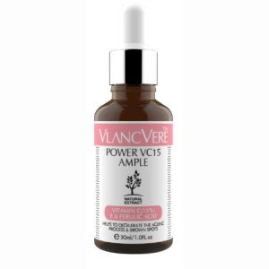 Vlancvere Power VC15 Ample is a must-have Korean beauty product that contains 15% Vitamin C for brightening, lightening of scars, spots and pigmentation.