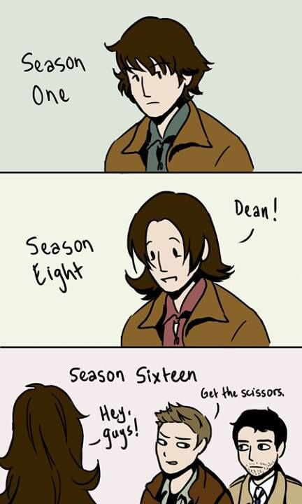 If Supernatural was still on in season 16, wow, the boys would be very old,but this would still be great.