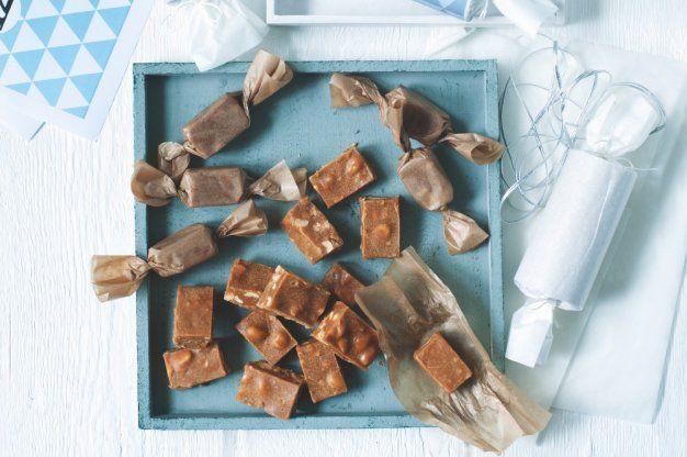 Karamelky se solenými arašídy