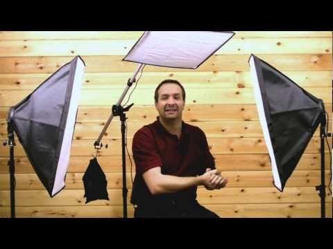 three point lighting technique video tutorial