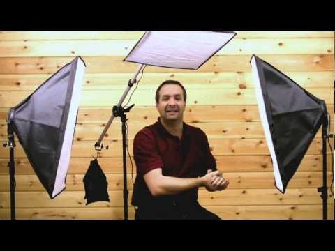 Three point lighting, Video softbox lighting tutorial.