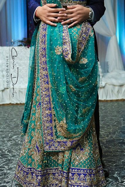 Sea Green Bridal Lengha : Shaadi Belles : Search, Save, & Share your South Asian Inspiration