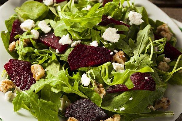 Beet and Goat Cheese Arugula Salad
