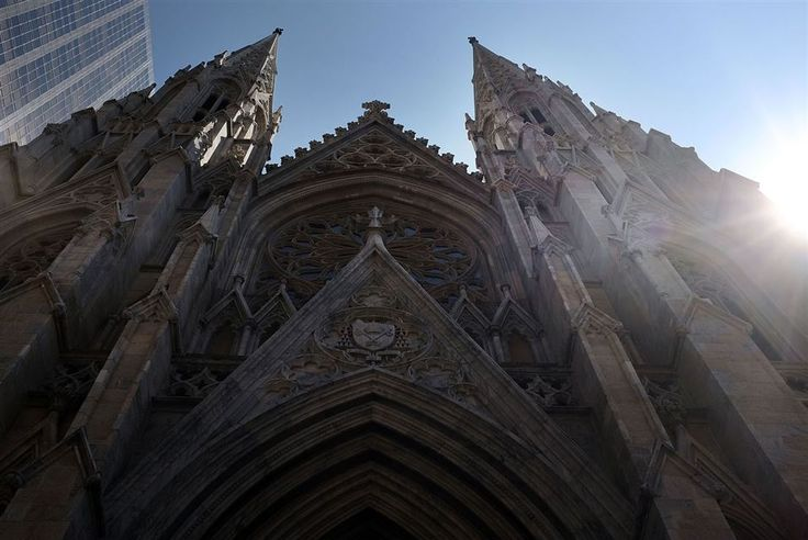 Artdaily.com Best Photos of the Day September 9, 2015. NEW YORK.- St. Patrick's Cathedral, the seat of the Roman Catholic Archdiocese of New York, is viewed on September 8, 2015 in New York City. Just in time for the arrival of Pope Francis later this month to hold mass at the church, a three-year restoration project at St. Patrick's is largely completed. St. Patrick's held its first Mass in 1879. Spencer Platt/Getty Images/AFP.