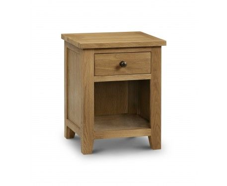 Buy the Minnesota Oak 1 Drawer Bedside Chest at Oak Furniture Superstore