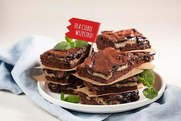 #Brownie czekoladowo-miętowe #czekolada #mięta #chocolate #mint #cake #ciasto #deser #słodkości