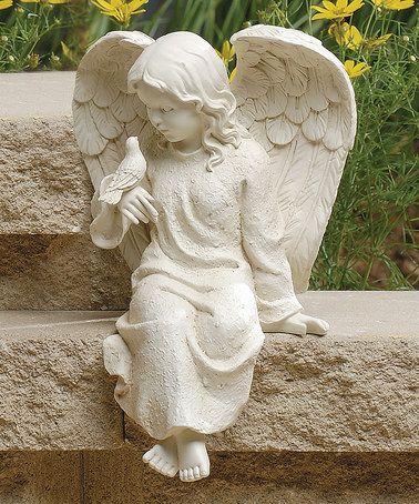 Oh I love this! #zulily! Sitting Cherub Statue #zulilyfinds