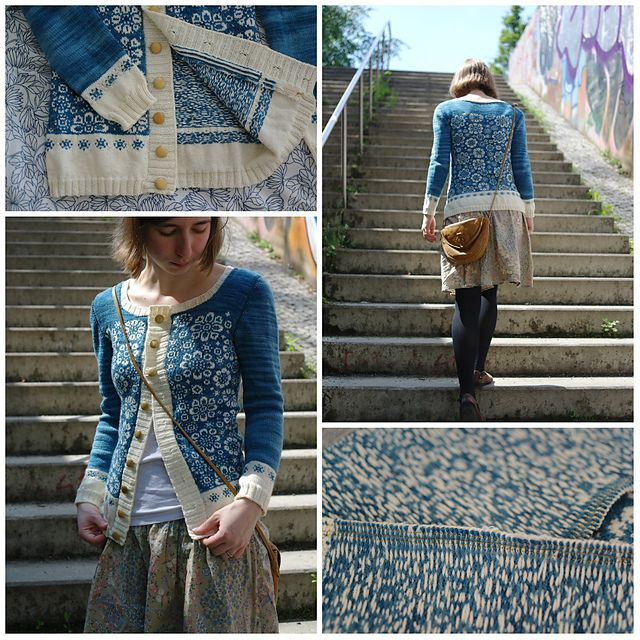 cardigan - STUNNING adaptation of mitten pattern!