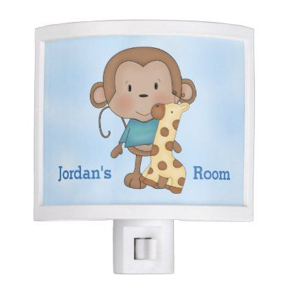 Kid's Night Lite Cute Baby Monkey Boy - baby gifts child new born gift idea diy cyo special unique design