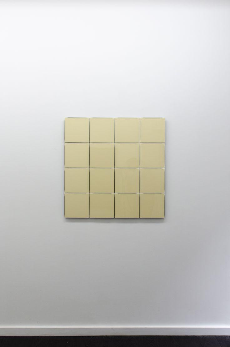 Hartmut Bhöm - RASTER AUS VIER QUADRATEN, 2015 - GRID OF FOUR SQUARES, 2015 - PVC; 85 X 85 X 3,2 cm