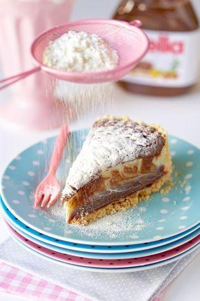 Torta trufada de leite ninho e nutella | Flamboesa