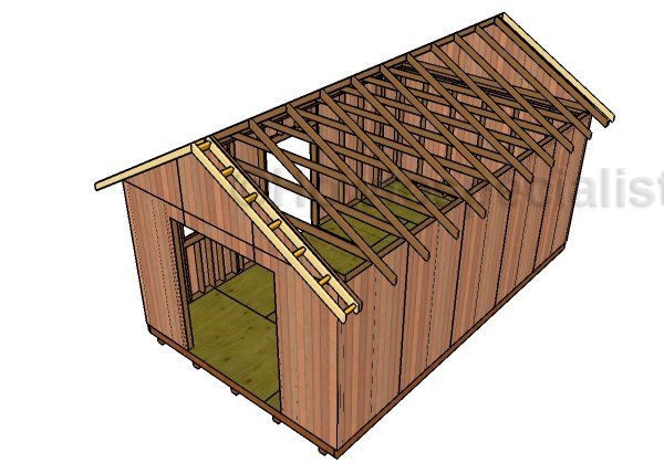 12x20 Gable Roof Plans Howtospecialist How To Build Step By Step Diy Plans Roof Plan Diy Roofing Gable Roof