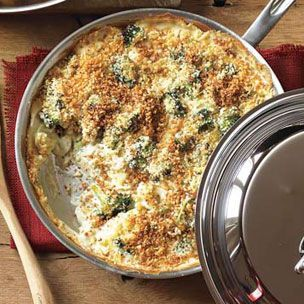 Golden Broccoli Gratin - AWESOME! Great crowd pleaser. I doubled it and baked it in a 10x15 for a pot luck and there was nothing left over.