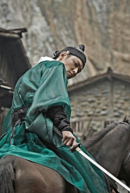 Gorgeous green hanbok_Movie titled KunDo 군도