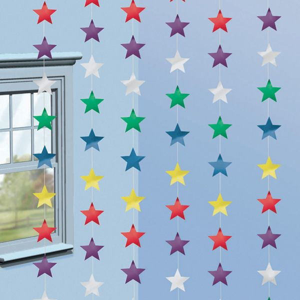 Estrellas de colores para decorar tu fiesta espacio de Decoracion de espacios de preescolar